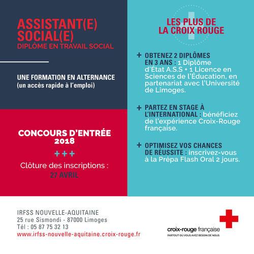 formation aide soignante 2018 croix rouge