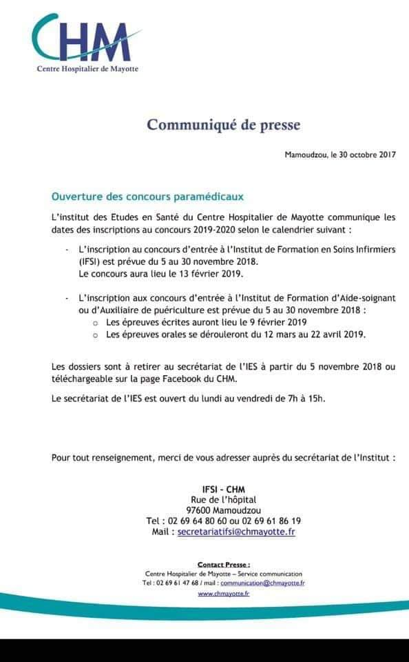 formation aide soignante a mayotte