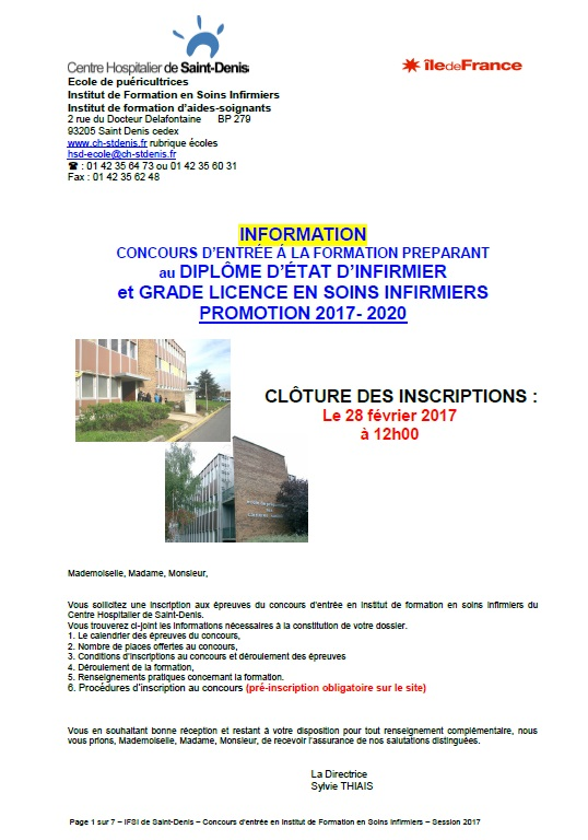 formation infirmiere 2018
