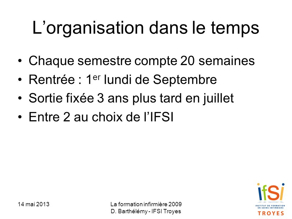 formation infirmiere 3 ans