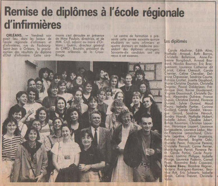formation infirmiere avant 1992