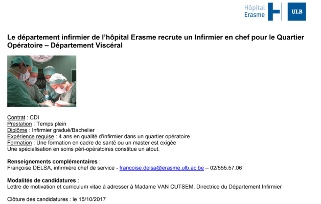 formation infirmiere bruxelles