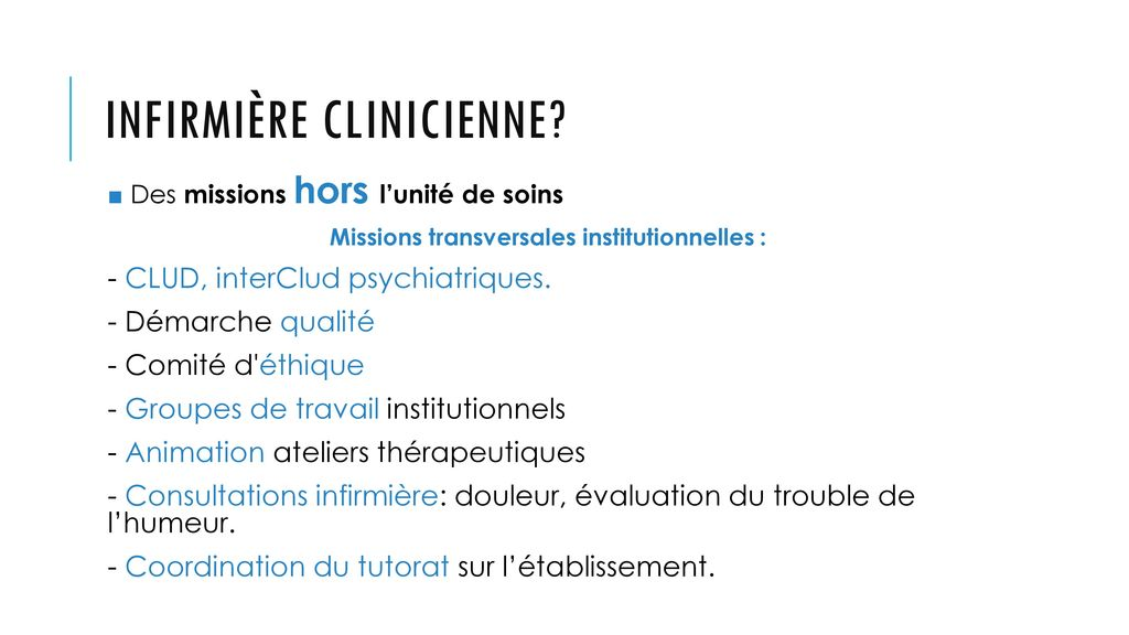 formation infirmiere clinicienne