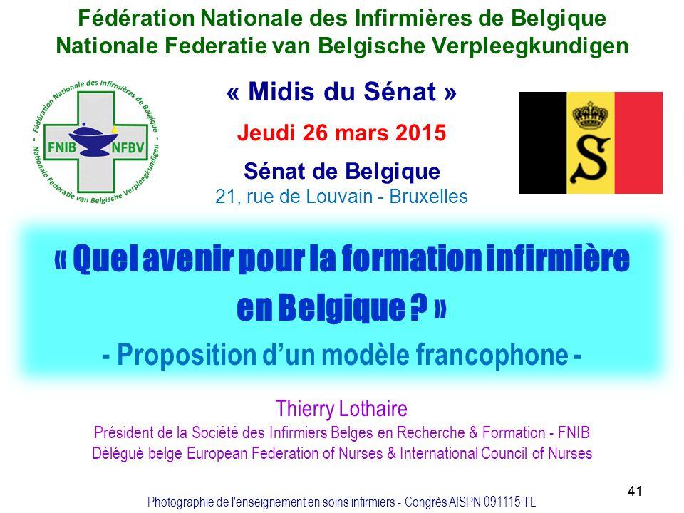 formation infirmiere en belgique
