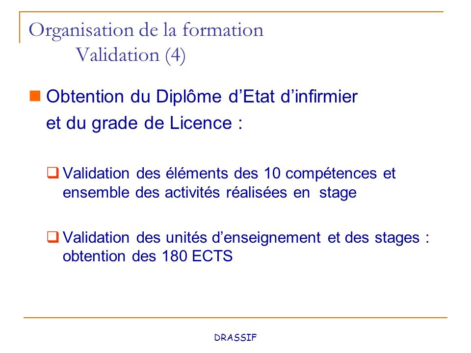 formation infirmiere grade licence
