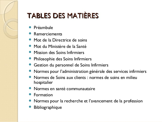 formation infirmiere matieres