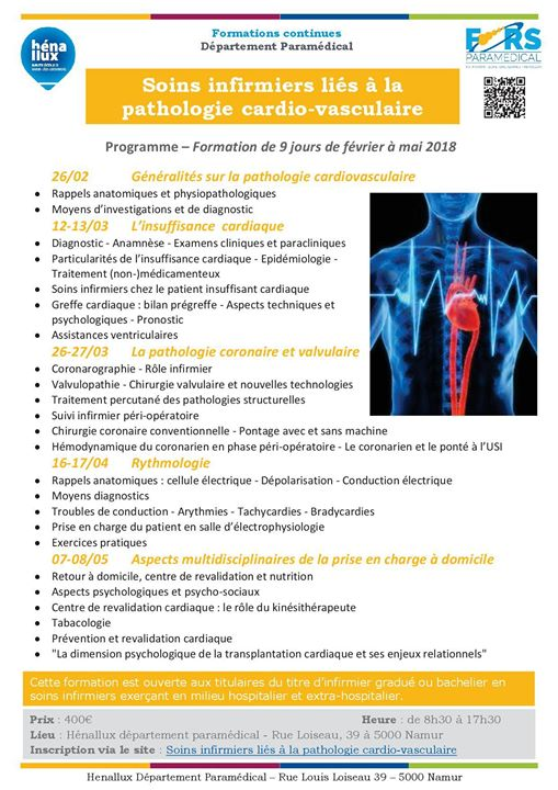 formation infirmiere namur