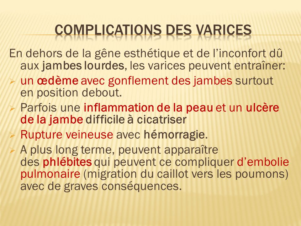 formation infirmiere varice