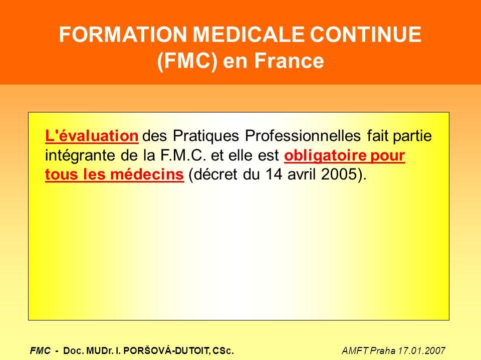 formation medicale continue et evaluation des pratiques professionnelles des medecins