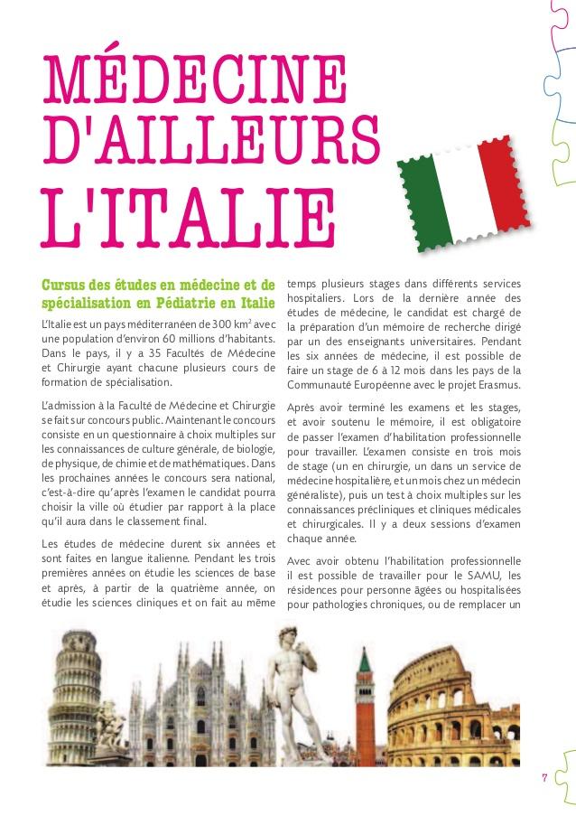 formation medicale en italie
