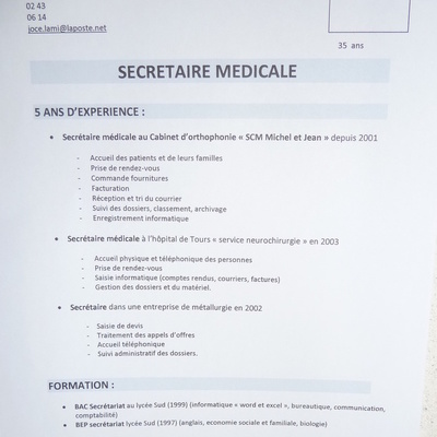 formation secretaire medicale 89