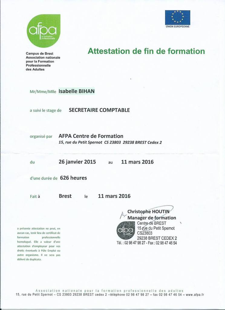 formation secretaire medicale afpa