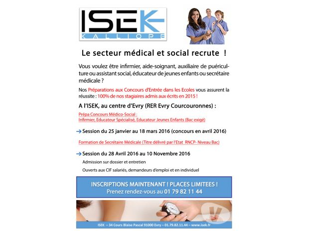 formation secretaire medicale evry