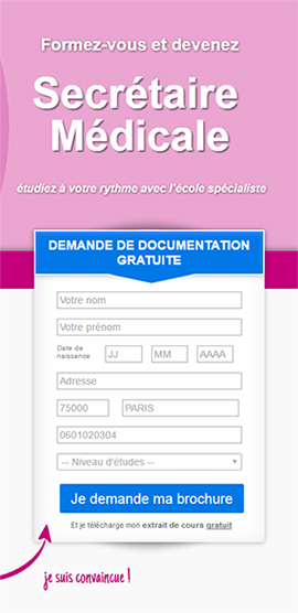 formation secretaire medicale horaire decale