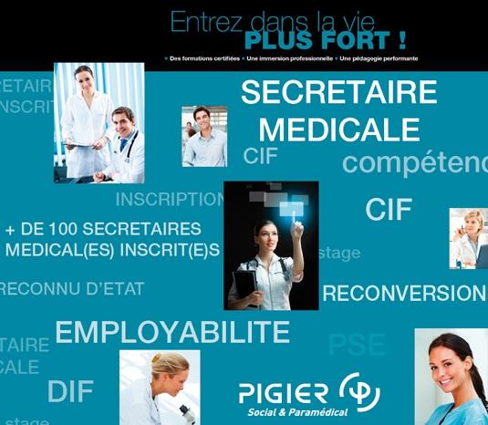 formation secretaire medicale pigier