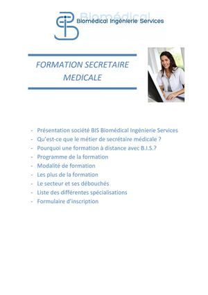 formation secretaire medicale programme