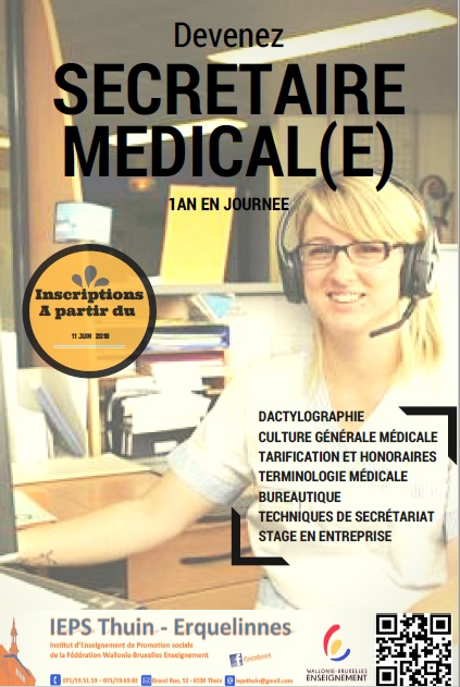 formation secretaire medicale thuin