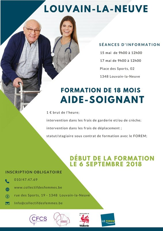 formation aide soignante nivelles