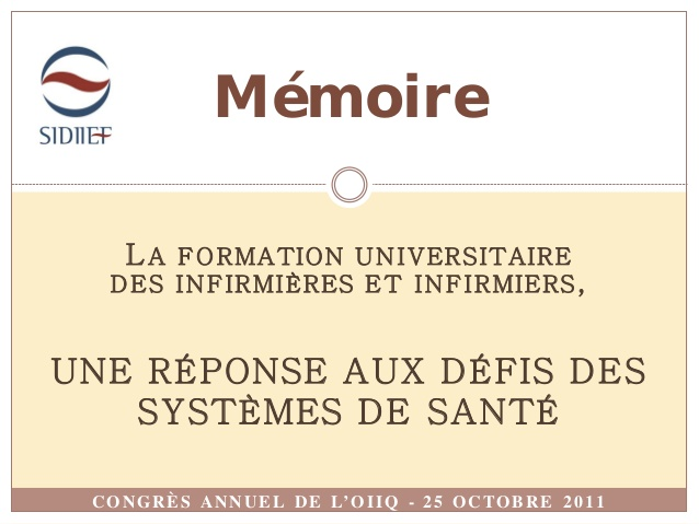 formation infirmiere 2011