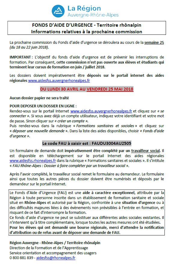 formation infirmiere bourse