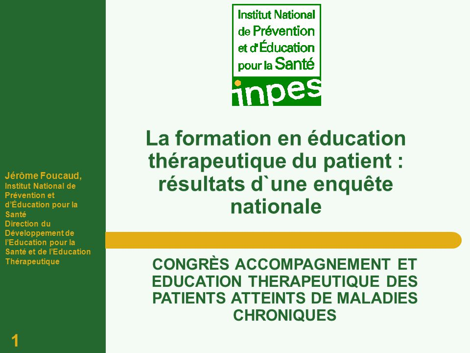 formation infirmiere d'education therapeutique