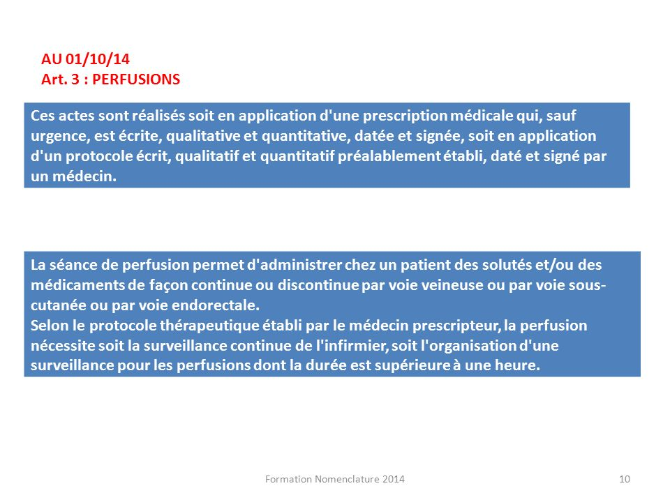 formation infirmiere liberale nomenclature