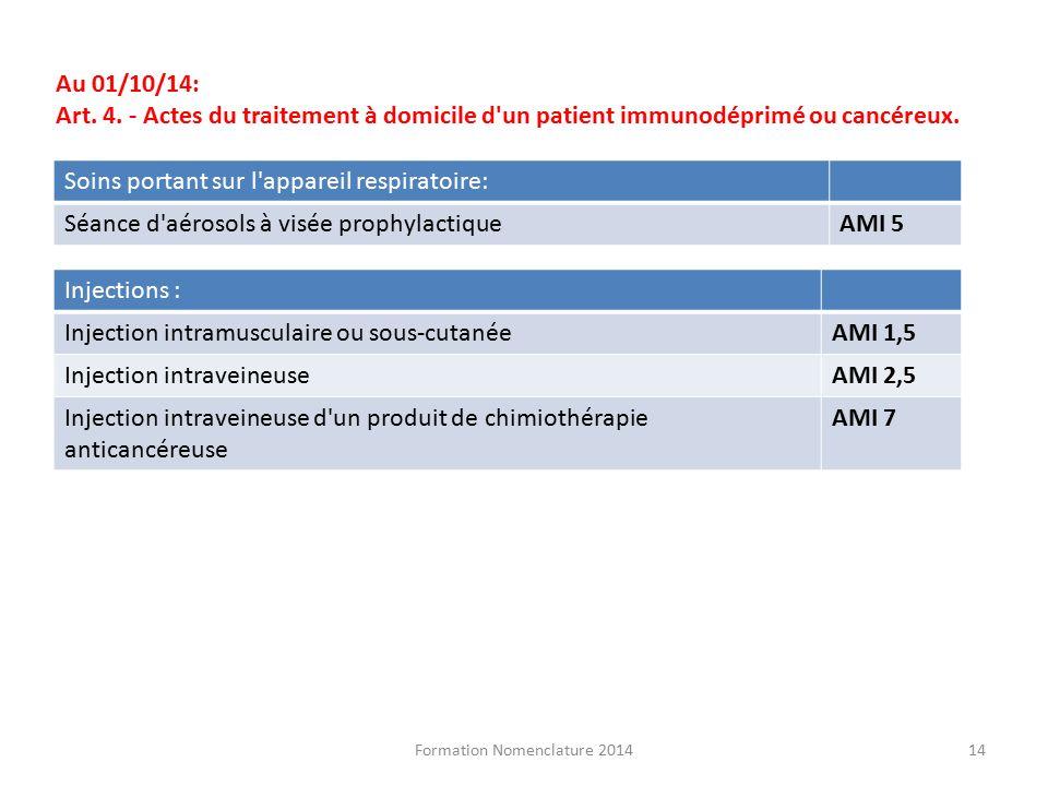 formation infirmiere nomenclature