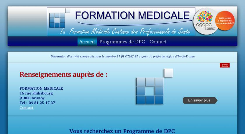 formation medicale continue france