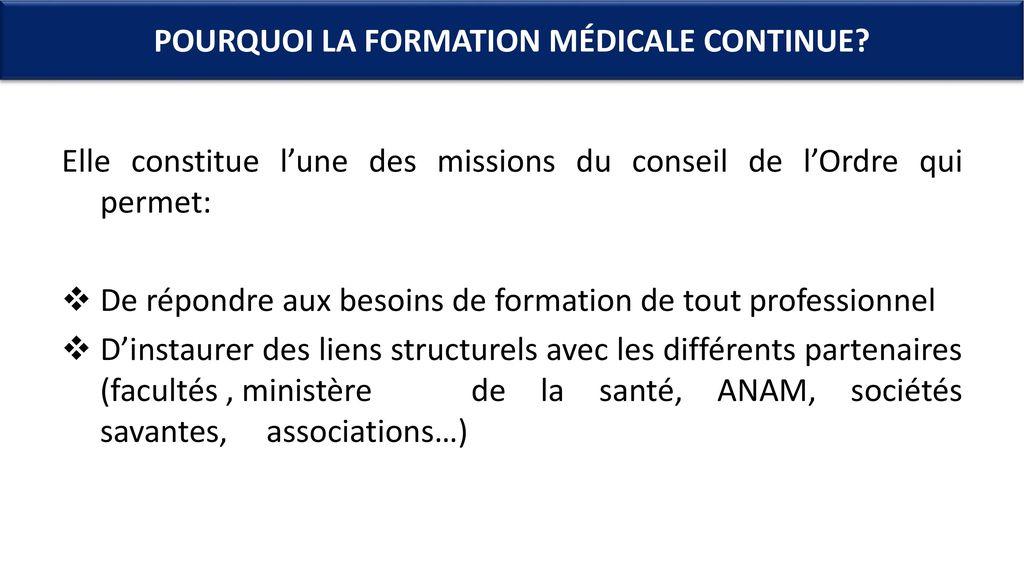 formation medicale continue marrakech