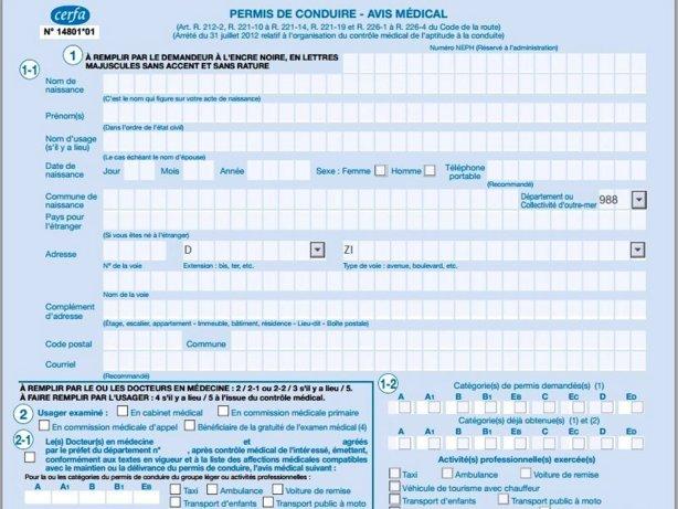 formation medicale permis de conduire