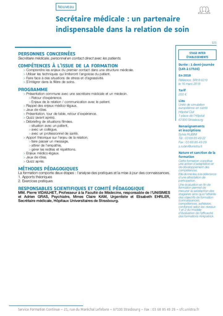 formation secretaire medicale 69