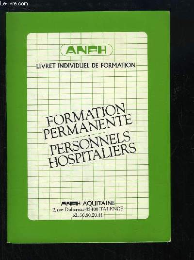 formation secretaire medicale anfh