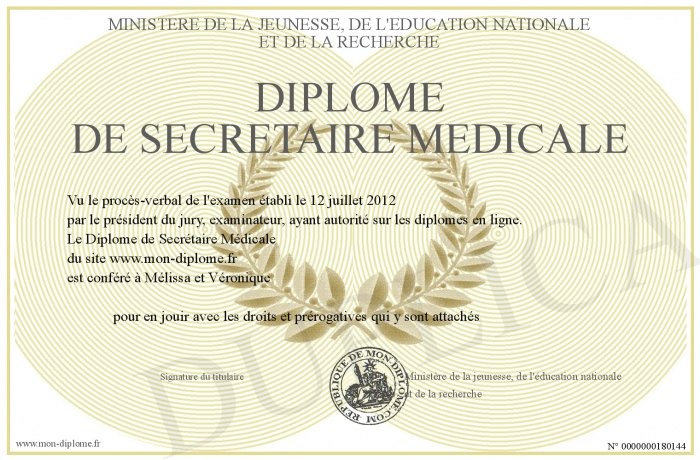 formation secretaire medicale reconnu par l'etat